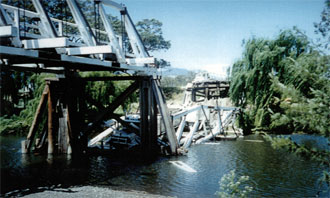 Belltrees Bridge collapsed